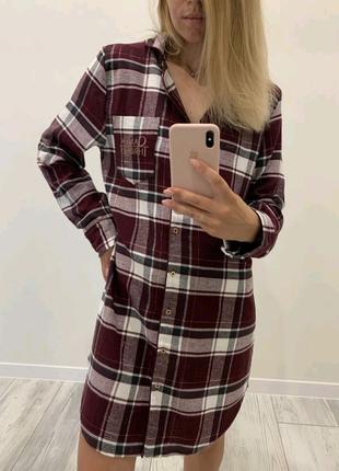 Фланелевая рубашка-платье для дома Primark