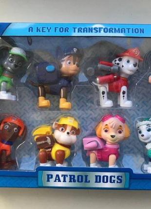 Детский набор (8 в 1) DOG SWAT Щенячий Патруль Герои-спасатели
