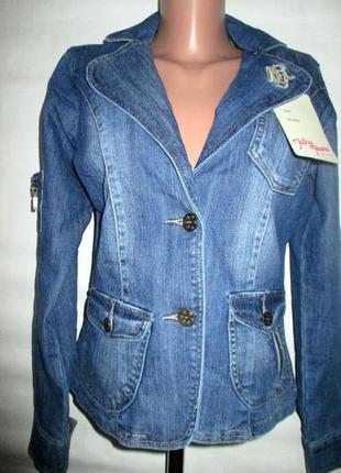 Распродажа!куртка,пиджак новый джинсовый,джинс, р 44-46!