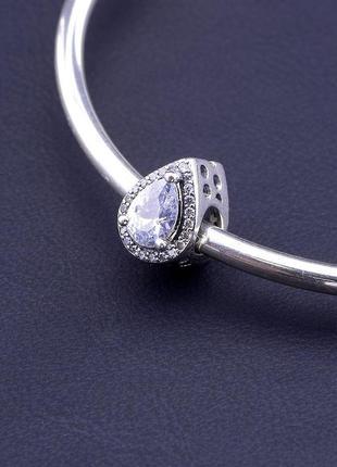 Шарм 'pandora style' фианит серебро(925)