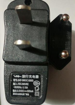 Зарядное устройство USB 5V 0.5A SAP-3W01C 05001