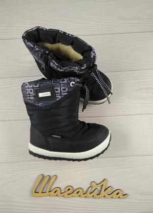 Дутики зимние детские ботинки на мальчика 22-26 размер (14,3-1...