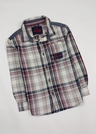 Рубашка с длинным рукавом на 3-4 года, рост 104 см