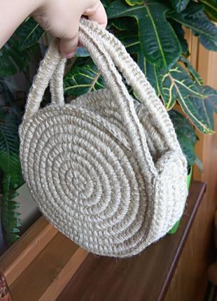 Сумочка. Кругла сумочка із джута.