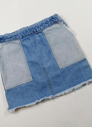 Джинсовая юбка на 7 лет, рост 122 см.