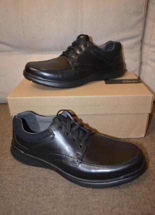 Кожаные туфли мокасины clarks 12us 46 размер 30 см