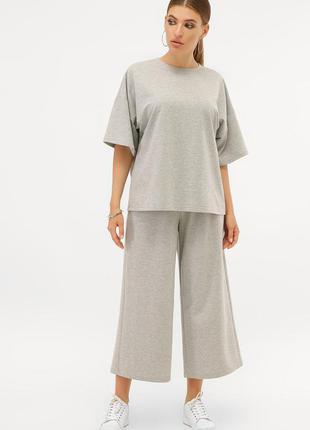 Женский трикотажный костюм с брюками-кюлотами