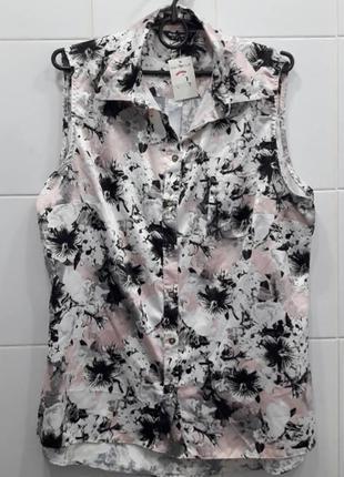 Нежная сатиновая блуза в цветочный принт select