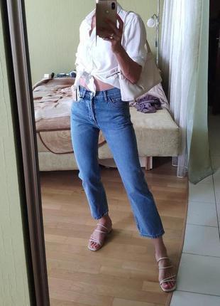 Распродажа mango классические укороченные ровные джинсы mango ...