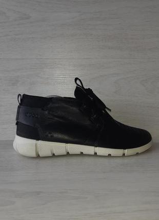 Кожаные кроссовки ботинки ecco danish design оригинал