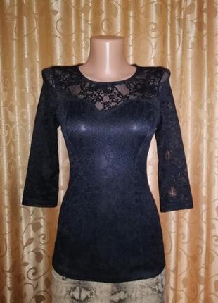 🎀🎀🎀красивая черная кружевная, гипюровая женская блузка, кофта ...