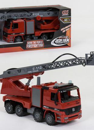 Пожарная Машина инерционная 9998-45, брызгает водой