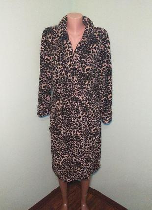 Леопардовий махровий халат