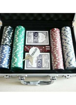 Покерный набор на 300 фишек. Покер В чемодане Супер Цена _каче...