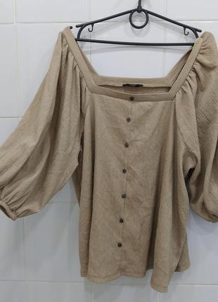 Красивейшая фактурная блуза с объемными рукавами