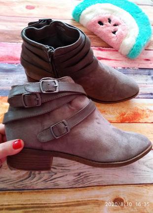 Замшевые 🖤 челси ботинки с пряжками