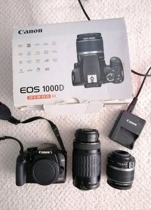 Профессиональный фотоаппарат Canon с 2 объективами