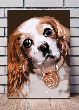 Картины собаки живопись Мопс Кинг Чарльз Спаниель Джек Рассел жив