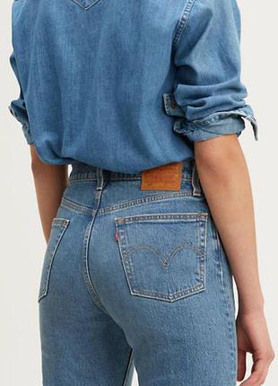 🎁1+1=3 фирменные женские зауженные синие джинсы levis, размер ...