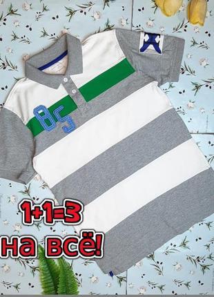 🎁1+1=3 фирменная плотная футболка поло хлопок tommy hilfiger н...