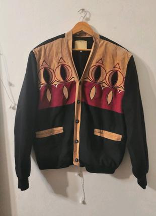 Винтажная куртка с этническим и мотивами