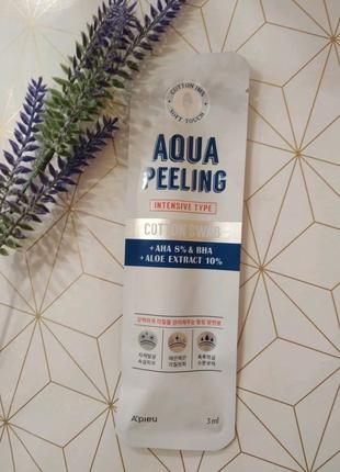 Кислотный пилинг с 8% aha и bha A'pieu aqua peeling cotton swab
