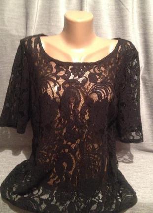Красивая гипюровая блузочка 0044 от george