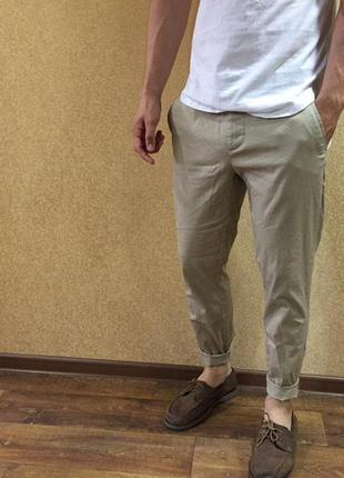 Чиносы. летние мужские штаны. 32 размер чинос. легкие бежевые ...