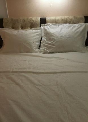 Набор постельный белый жакард