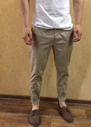 Джинсы чиносы. летние мужские штаны. 32 размер чинос. легкие б...