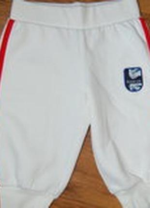 Спортивные штаны, белые, рост 80, новые