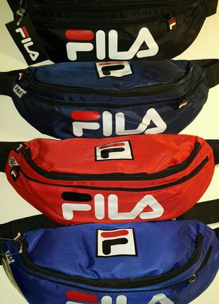 Большая бананка FILA спортивная сумка на пояс на плечо