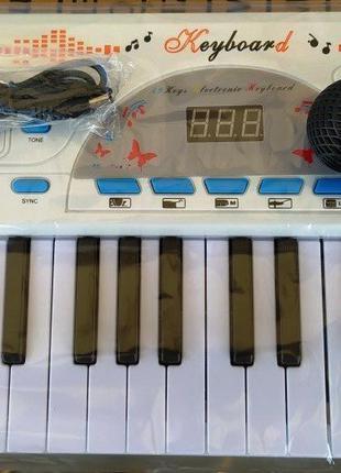 Пианино синтезатор детский 4966 49 клавиш, микрофон, USB-зарядное