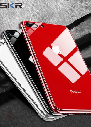 ЧЕХОЛ Iphone 7,8 с защитным стеклом Tempered Glass новый
