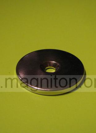 Магнит шайба с отверстием D30-d7,5/4,5хh3 мм