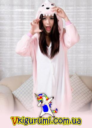 Пижама розовый динозавр кигуруми