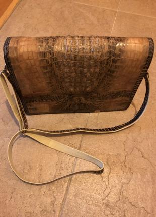 Женская сумка с кожи крокодила