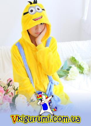 Пижама миньон. Кигуруми для детей и взрослых