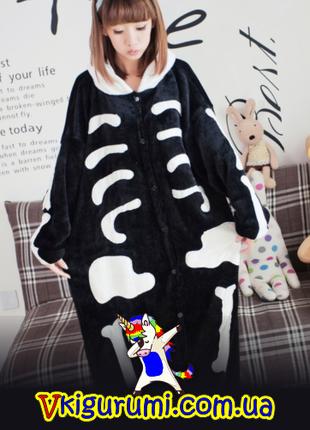 Кигуруми скелет. Костюм скелета