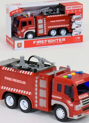 Пожарная машина с водяной помпой (свет, звук)