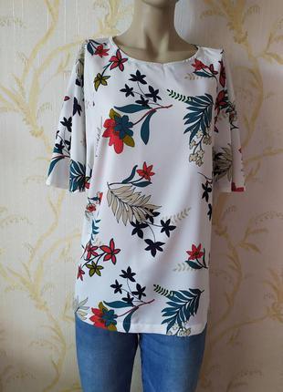 Блуза цветочный принт tu р xxl-xxxl