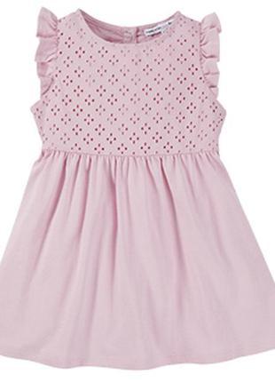 Хлопковое платье с перфорацией на рост 110 германия impidimpi