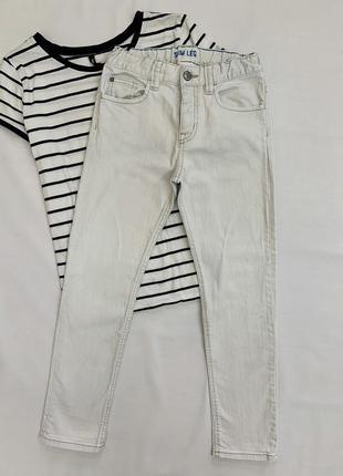 Детские джинсы светло-серого цвета на мальчика h&m