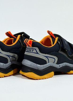Кроссовки WeeSTEP арт.3565-DB, синий-оранжевый