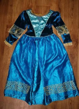 Красивое карнавальное платье принцессы на девочку 7-8 лет mark...