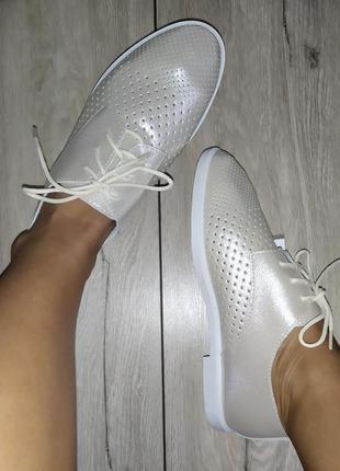 Кожаные мокасины 🍓 кеды броги лоферы туфли