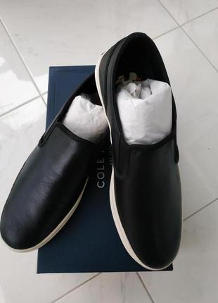 Мужские кожаные мокасины Cole Haan, размер 42.5, стелька 28 см.