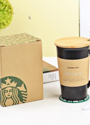 Керамическая чашка Starbucks с маркером