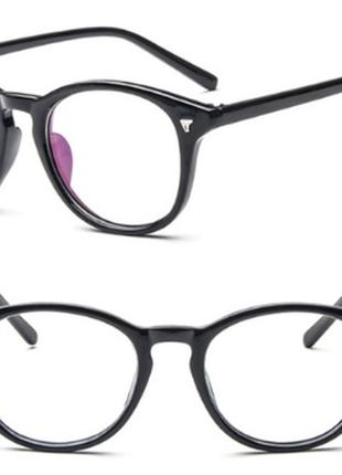 Квадратные имиджевые стильные очки с тонкой оправой бутафория