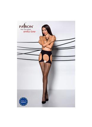 Эротические колготки Passion с имитацией чулок на поясе